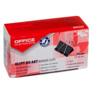 SPINACZ KLIPS OFFICE PRODUCTS 15MM 12SZT