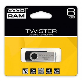 PENDRIVE GOODRAM 8GB USB 2.0 TWISTER CZARNY