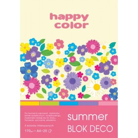 BLOK DECO HAPPY COLOR SUMMER A5 20ARK. 170G