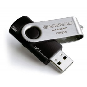 PENDRIVE GOODRAM 16GB USB 2.0 TWISTER CZARNY